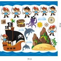 Стикери за детска стая  пирати модел 20045