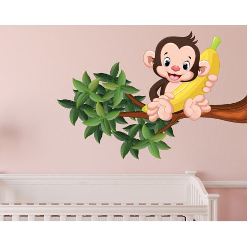 Стикери за детска стая модел 20048 маймунка