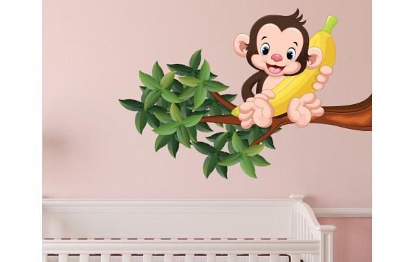Стикери за стена на детска стая модел 20048 маймунка