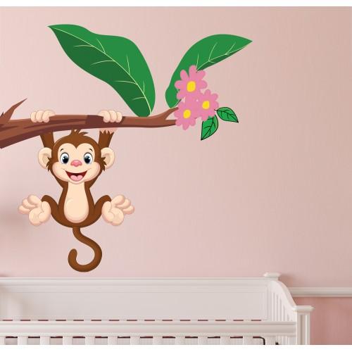 Стикери за детска стая модел 20049 маймунка