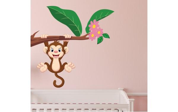 Стикери за стена на детска стая модел 20049 маймунка