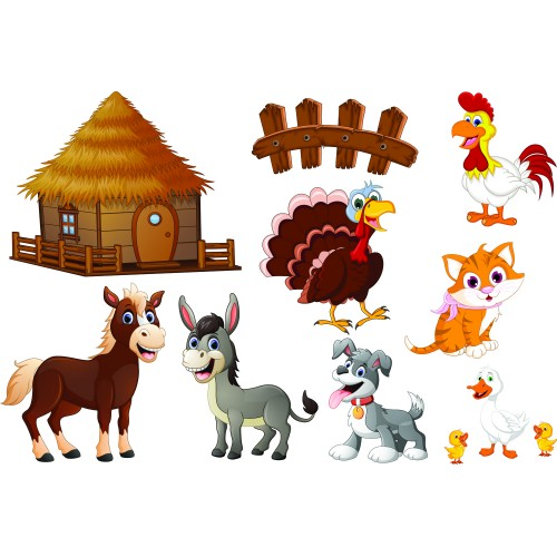 Стикери за детска стая Ферма сет Модел 20050