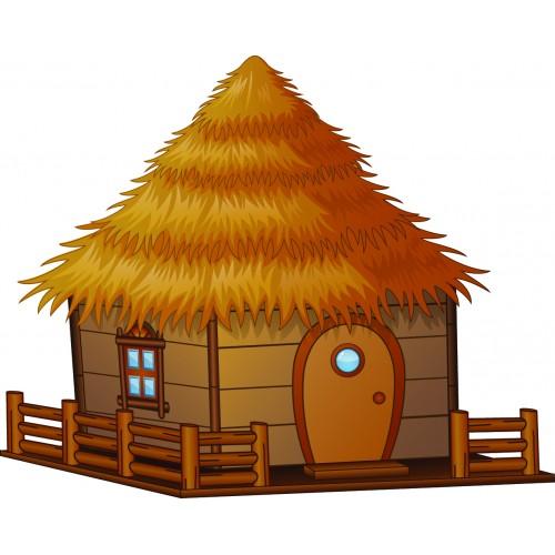 Стикери за детска стая  колиба от Ферма модел 20054