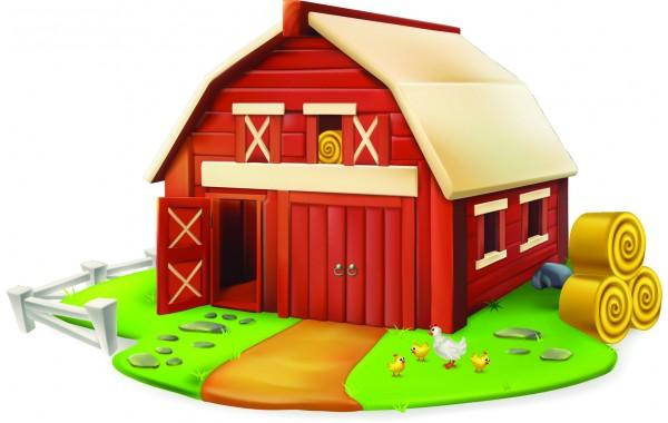 Стикери за детска стая  колиба Модел 20056 Ферма