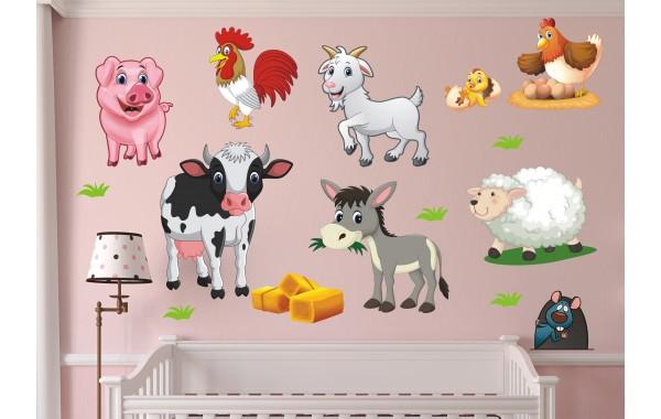 Стикери за стена на детска стая Ферма сет Модел 20067