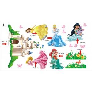 Стикери за детска стая  Принцеси модел 20084