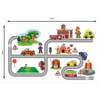 Стикери за детска стая  град модел 20086