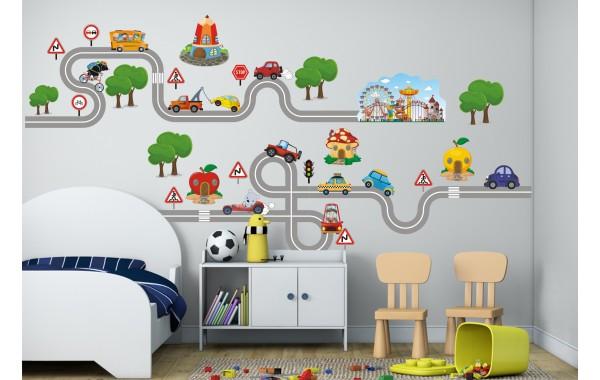 Стикери за детска стая  град модел 20087