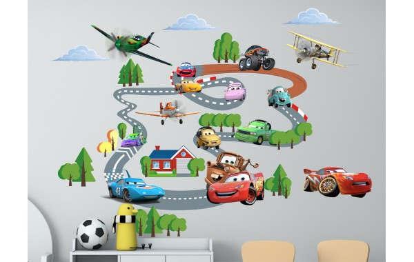 Стикери за детска стая  колите модел 20109