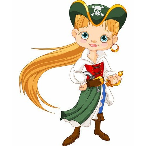 Стикери за детска стая  момиче пират 20112