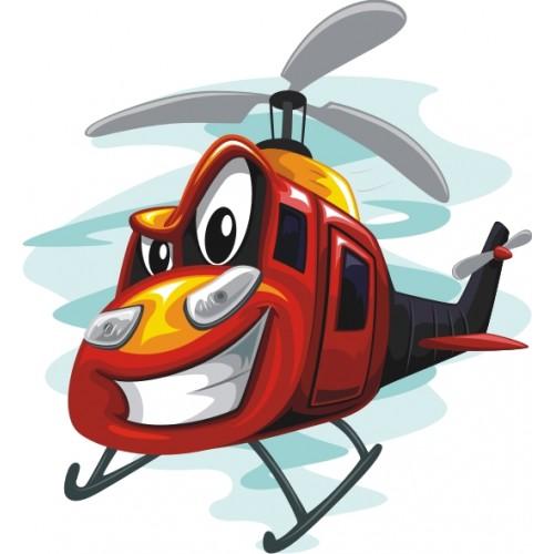 Стикери за детска стая Вертолет 20115
