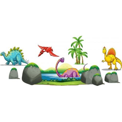 Стикери за детска стая Динозаври модел 20127