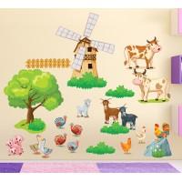 Стикери за стена на детска стая Ферма сет Модел 20164