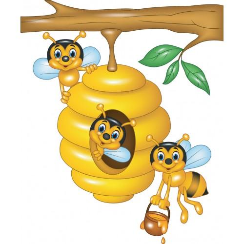 Стикер за детска стая пчелички модел 20256