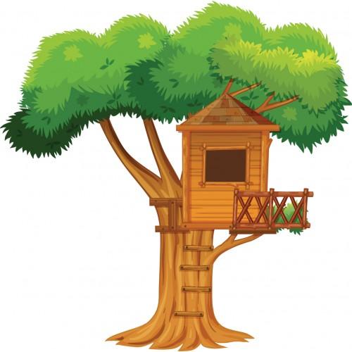 Стикери за стена на детска стая Къща на Дървото  Модел 20280