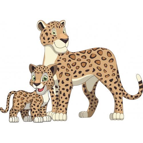 Стикери за стена на детска стая Леопард  Модел 20285