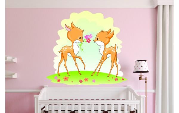 Стикери за детска стая  сърнички сет  Модел 20391