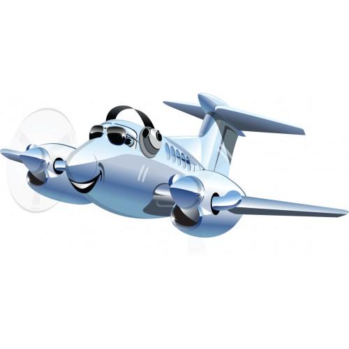 Стикери за стена на детска стая Самолет Модел 20403