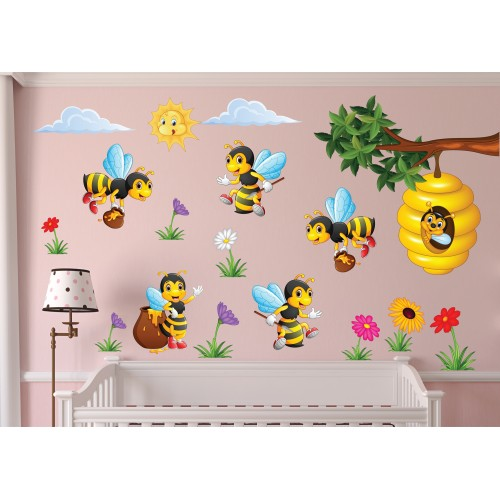 Стикери за детска стая пчелички модел 20446