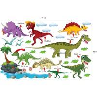 Стикери за детска стая Динозаври модел 20447