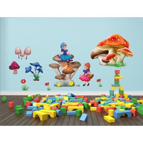 Стикери за детска стая гъбки модел 20448