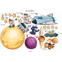 Стикери за детска стая космос планети астронавти ракети модел 20450