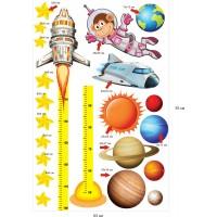 Стикери за детска стая космос планети астронавти ракети модел 20452