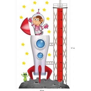 Стикери за детска стая космос планета астронавт ракета с метър модел 20453