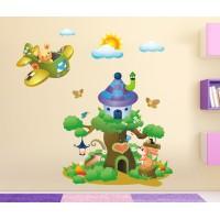 Стикери за детска стая зайко пилот модел 20461