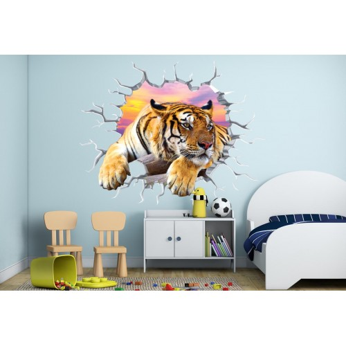 Стикери за стена на детска стая 3D Тигър Модел 20551