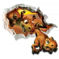 Стикери за стена на детска стая 3D бебе динозаври Модел 20575