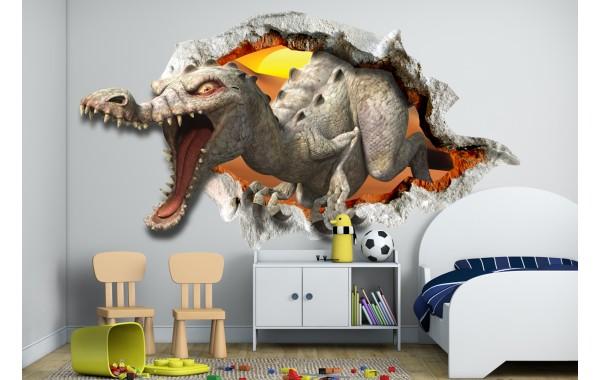 Стикери за стена на детска стая 3D динозавър Модел 20576