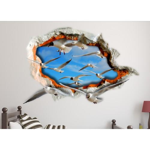 Стикери за стена на детска стая 3D Птици Модел 20591