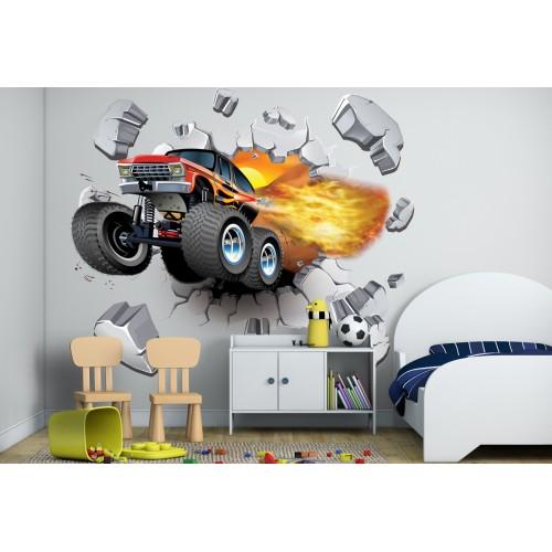 Стикери за стена на детска стая 3D джип офроуд Модел 20631