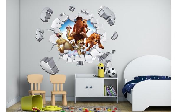 Стикери за стена на детска стая 3D   Модел 20634