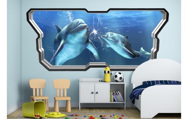 Стикери за стена на детска стая  Модел 20644 делфини