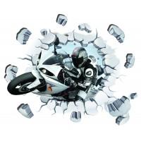 Стикери за стена на детска стая 3D мотоциклетист  Модел 20671
