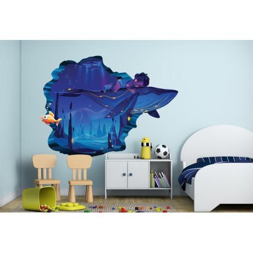 Стикери за детска стая емо кита и подводният свят  Модел 20680