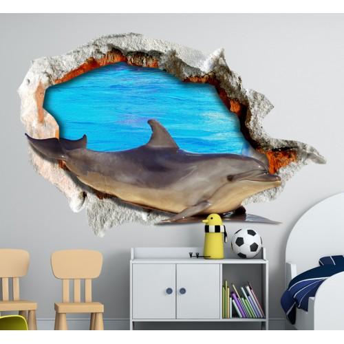 Стикери за детска стая 3D Делфин Модел 20684