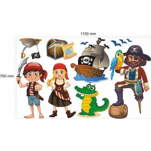 Стикери за детска стая  Джак, Лия и Пирата 20111