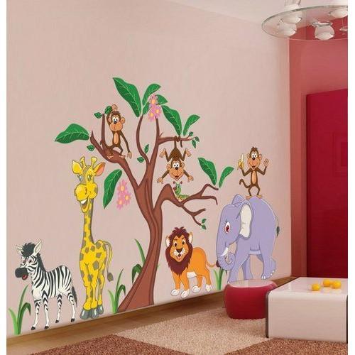 Стикери за детска стая модел 20008 Джунгла Сафари