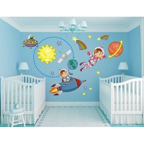 Стикери за детска стая 20004 Маймунка космонавт