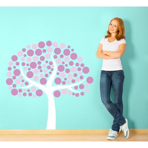 Стикери за стена на детска стая цветно дръвче Модел 20138