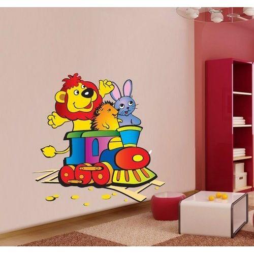 Стикер за детска стая Локомотива на Зайко модел 20009