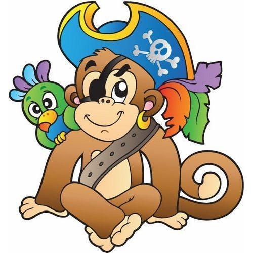 Стикери за детска стая  маймунка пират 20113
