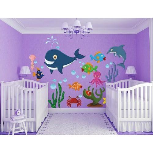Стикери за детска стая комплект морски свят модел 20003