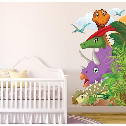 Стикери за детска стая Дино парк модел 20467