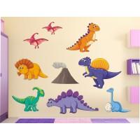 Стикери за детска стая сет Динозаври модел 20468