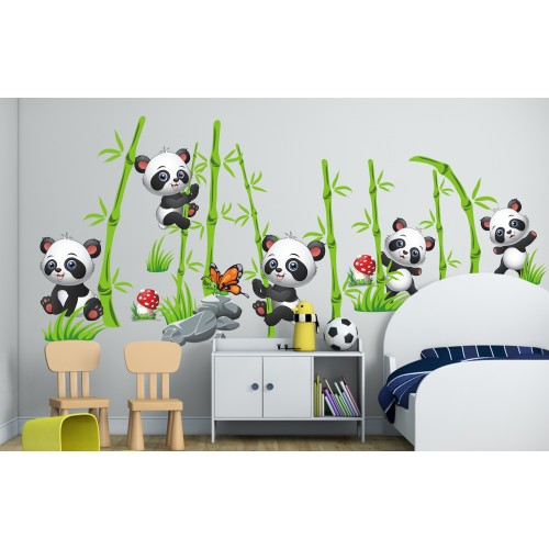 Стикери за детска стая горичка с панди модел 20470