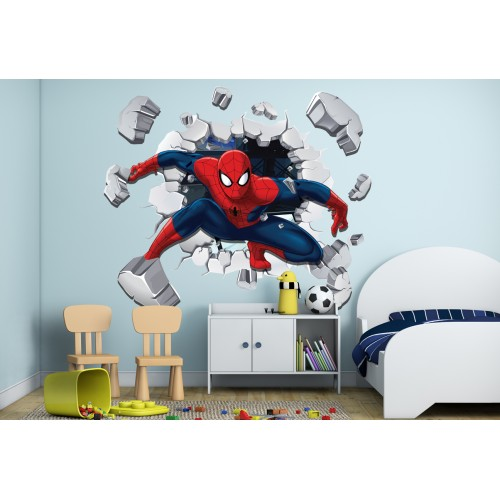 Стикери за стена на детска стая 3D Спайдър Мен Модел 20545